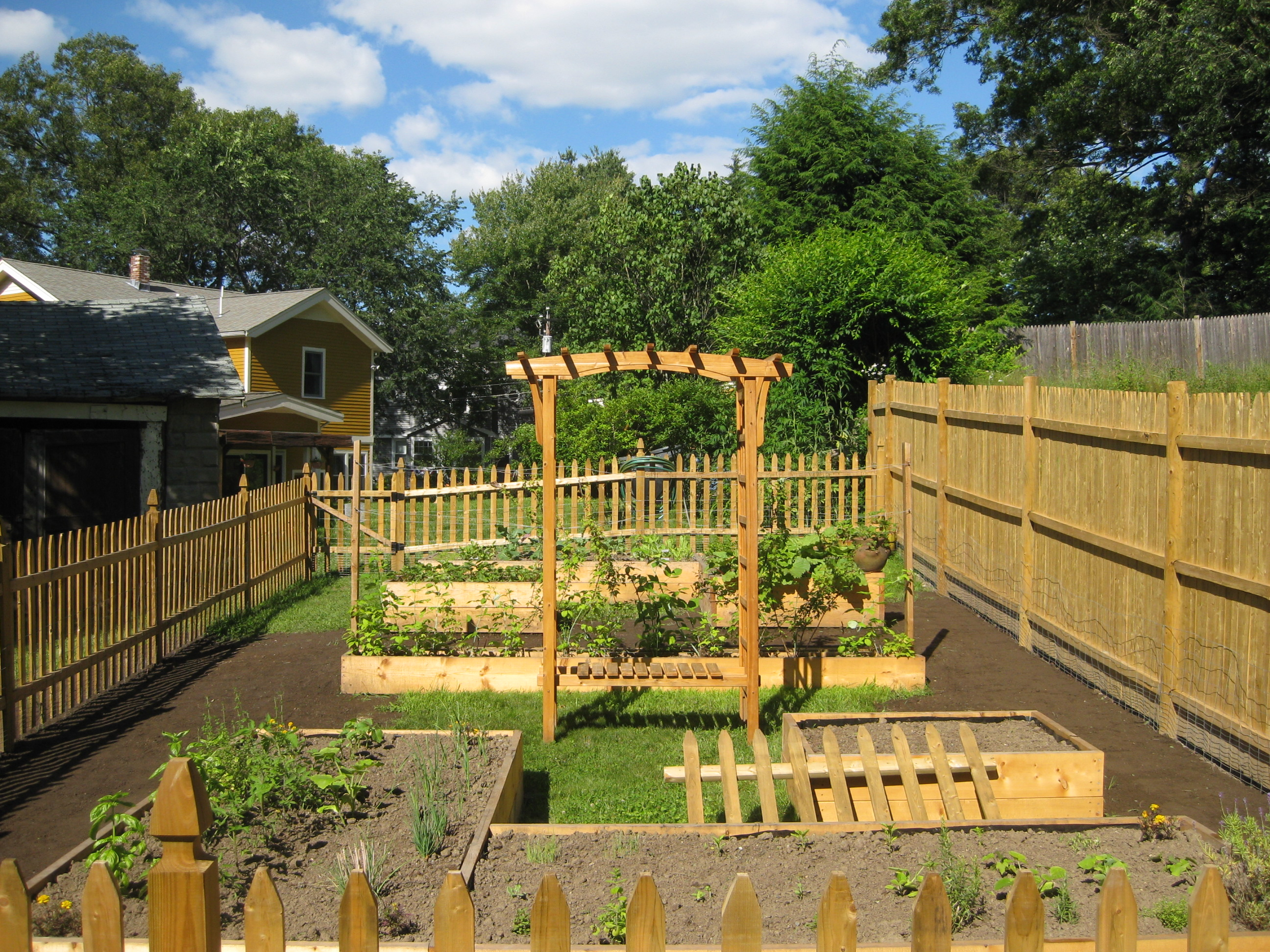 raised bed gardening | Picket Fence Garden